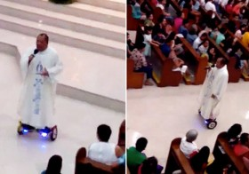A Philippines Priest Has Just Been Suspended For Riding A Hoverboard While Delivering A Sermon